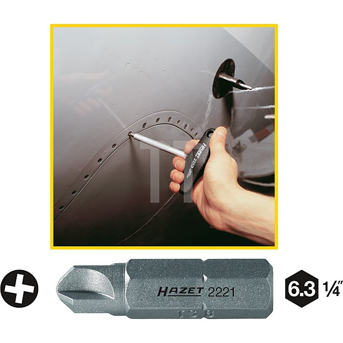 Hazet Schraubendreher-Einsatz (Bit) Innen-Sechskant 6,3mm (1/4 Zoll) Torq-Set l: 25mm