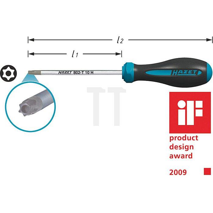 HAZET Schraubendreher HEXAnamic® - Tamper Resistant TORX® Profil - T10H mm