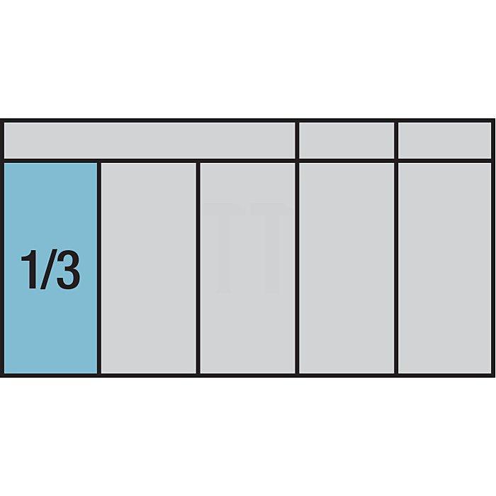HAZET Schraubendreher-Steckschlüsseleinsatz-Satz - Vierkant hohl 12,5 mm (1/2 Zoll) - Innen-Sechskant Profil, Innen Vielzahn Profil XZN - Anzahl Werkzeuge: 13