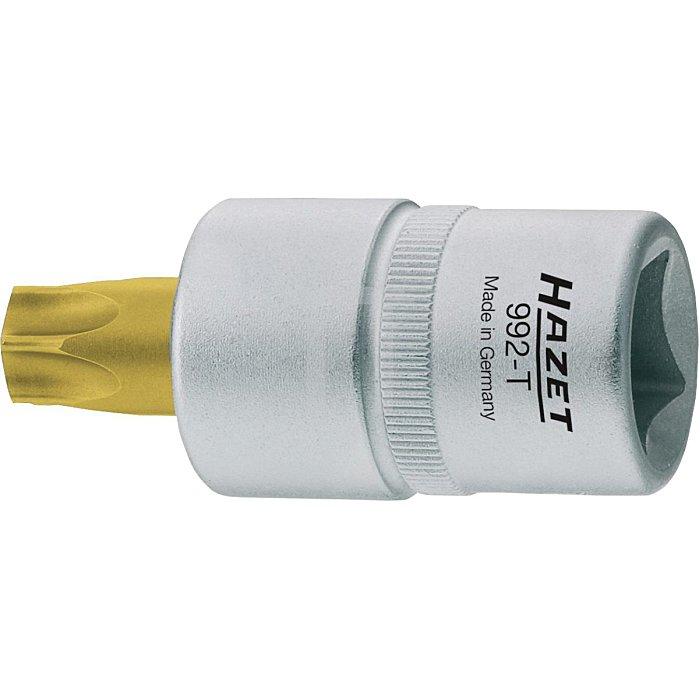 HAZET Schraubendreher-Steckschlüsseleinsatz TORX® - Vierkant hohl 12,5 mm (1/2 Zoll) - Innen TORX® Profil - T27 mm
