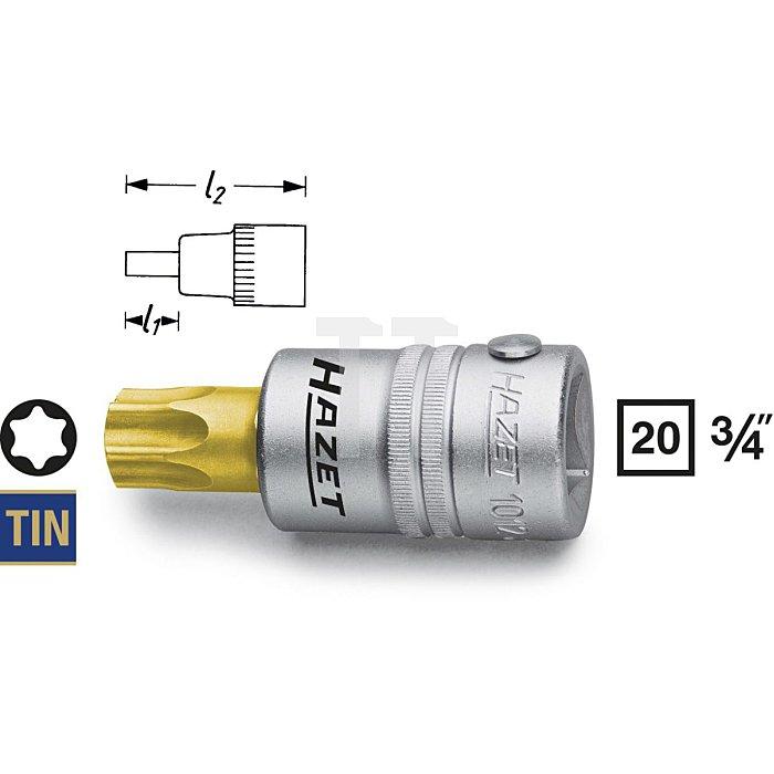 HAZET Schraubendreher-Steckschlüsseleinsatz TORX® - Vierkant hohl 20 mm (3/4 Zoll) - Innen TORX® Profil - T70 mm