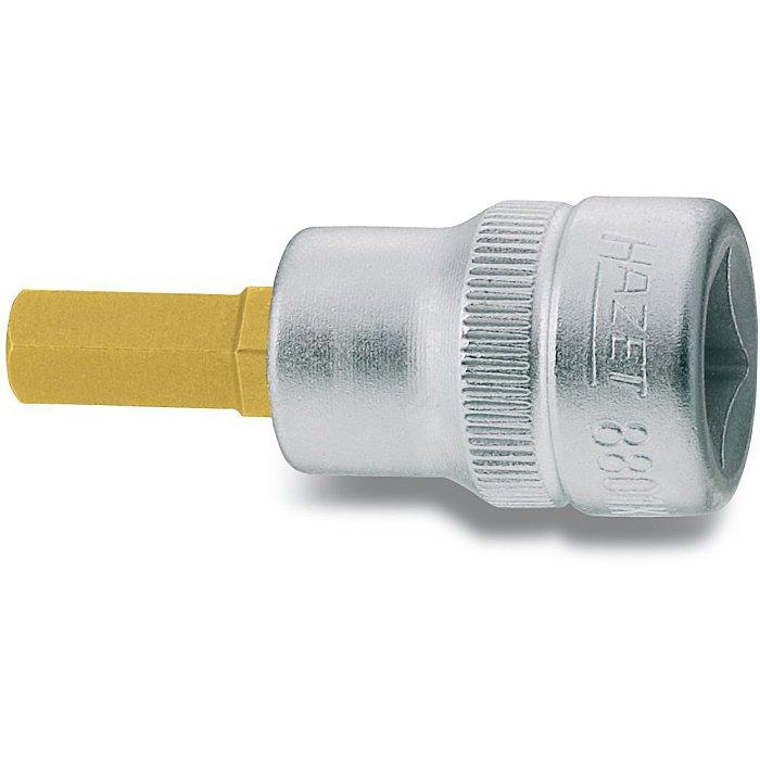 HAZET Schraubendreher-Steckschlüsseleinsatz - Vierkant hohl 10 mm (3/8 Zoll) - Innen-Sechskant Profil - 3 mm