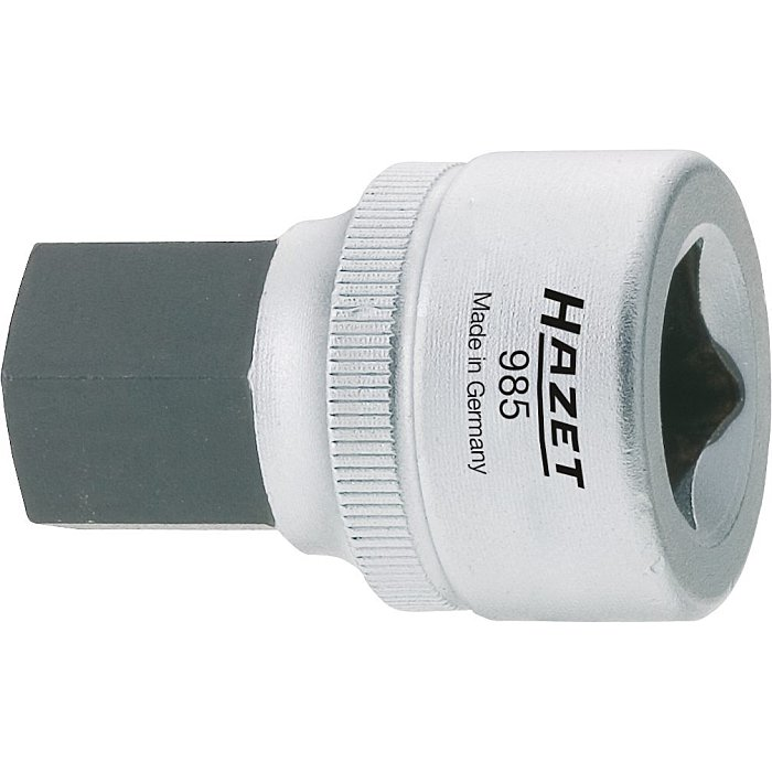 HAZET Schraubendreher-Steckschlüsseleinsatz - Vierkant hohl 12,5 mm (1/2 Zoll) - Innen-Sechskant Profil - 5 mm