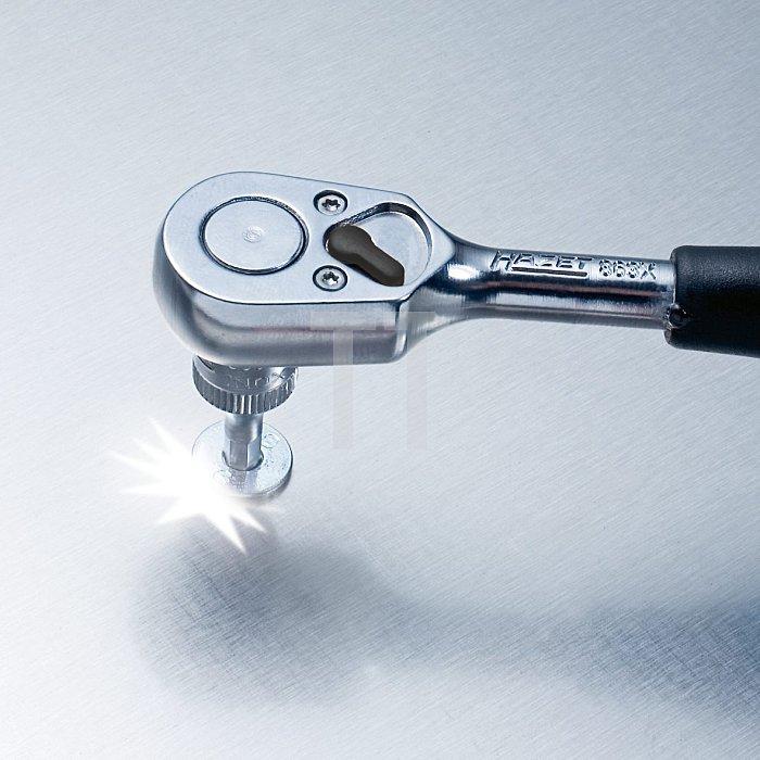 HAZET Steckschlüssel-Einsatz (6kt.) HINOX® (Edelstahl)® - Vierkant hohl 6,3 mm (1/4 Zoll) - Außen-Sechskant-Tractionsprofil - 7 mm