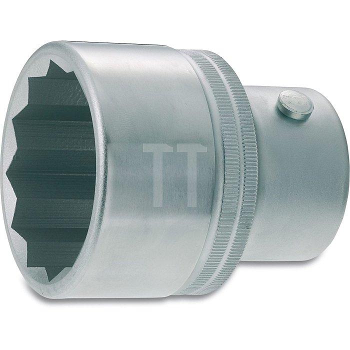 HAZET Steckschlüssel-Einsatz (Doppel-6kt.) - Vierkant hohl 25 mm (1 Zoll) - Außen-Doppel-Sechskant Profil - 65 mm