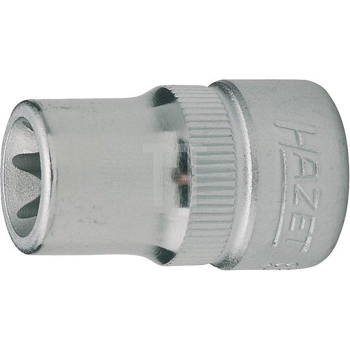 HAZET Steckschlüssel-Einsatz TORX® - Vierkant hohl 10 mm (3/8 Zoll) - Außen TORX® Profil - E8 mm