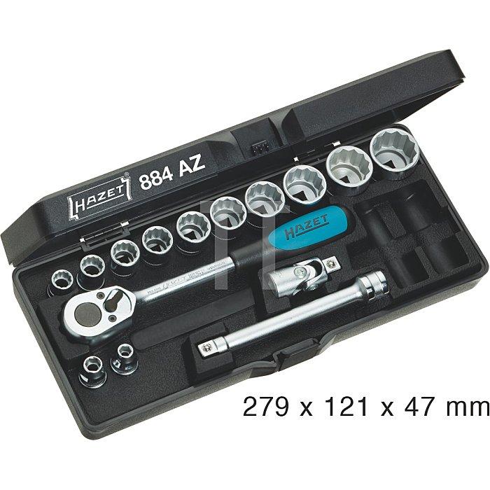 Hazet Steckschlüssel-Satz (Doppel-6kt.) Innen-Vierkant 10mm (3/8 Zoll)