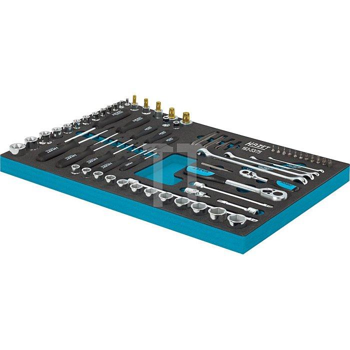 HAZET Steckschlüssel-Satz, TORX® Doppel-Ringschlüssel, Steckschlüssel usw. - Vierkant hohl 12,5 mm (1/2 Zoll) - Anzahl Werkzeuge: 75