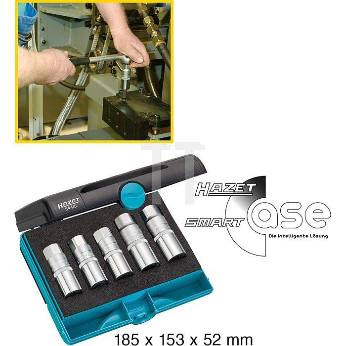 HAZET Stehbolzen-Ausdreher-Satz - Vierkant hohl 12,5 mm (1/2 Zoll) - Anzahl Werkzeuge: 5