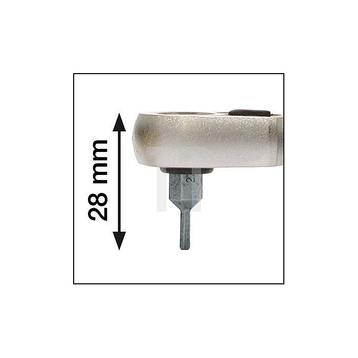 HAZET Umschaltknarre für Bits, kurz - Sechskant hohl 6,3 (1/4 Zoll)