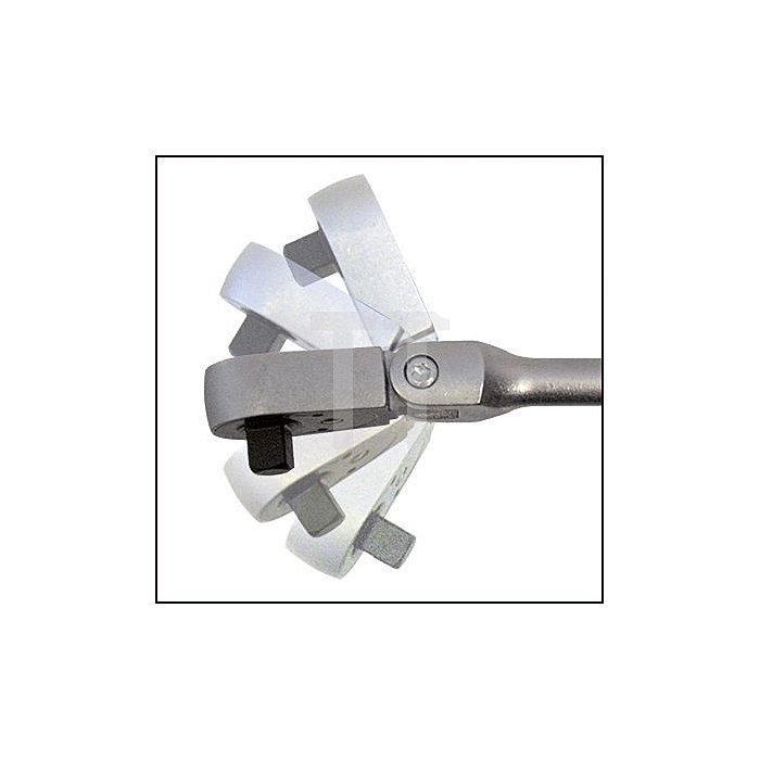 HAZET Umschaltknarre mit Gelenk - Vierkant massiv 6,3 mm (1/4 Zoll)