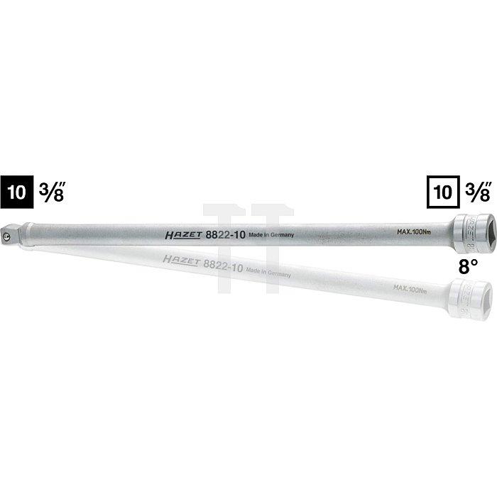 HAZET Verlängerung, schwenkbar - Vierkant hohl 10 mm (3/8 Zoll) - Vierkant massiv 10 mm (3/8 Zoll)