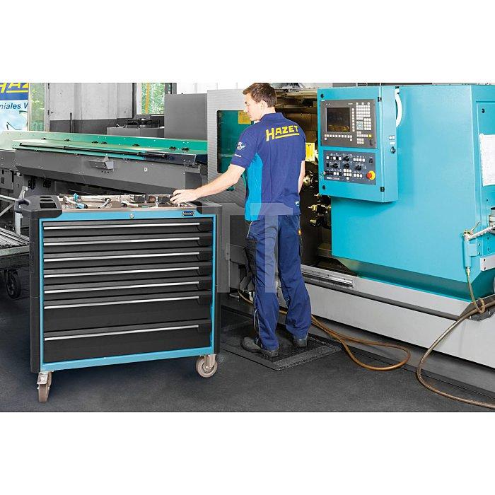 HAZET Werkstattwagen Assistent - Schubladen flach: 5x 80x871x398 mm - Schubladen hoch: 2x 165x871x398 mm