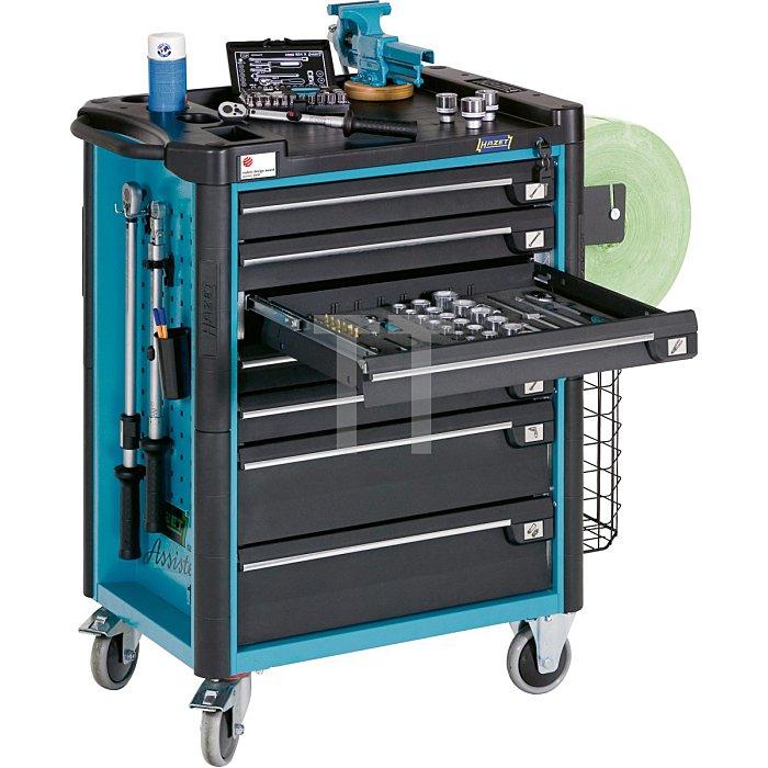 HAZET Werkstattwagen Assistent - Schubladen flach: 7x 80x527x398 mm - Schubladen hoch: 1x 165x527x398 mm