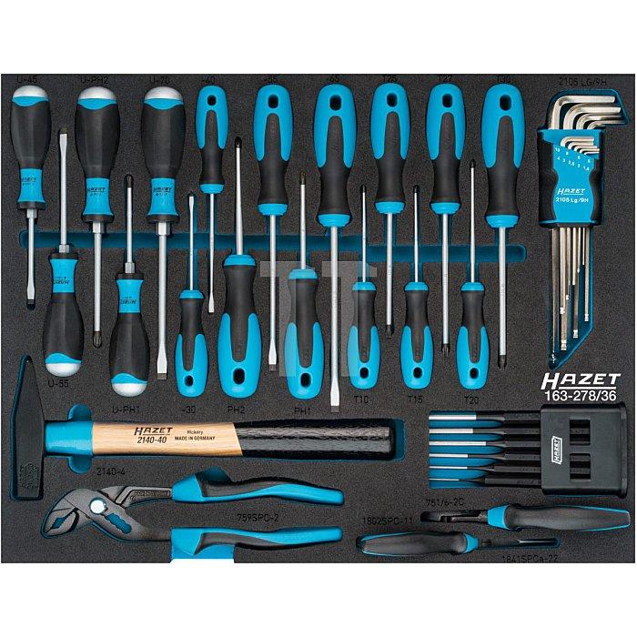 HAZET Werkzeug-Satz - Schlitz Profil, Kreuzschlitz Profil PH, Pozidriv Profil PZ, Innen-Sechskant Profil - Anzahl Werkzeuge: 36