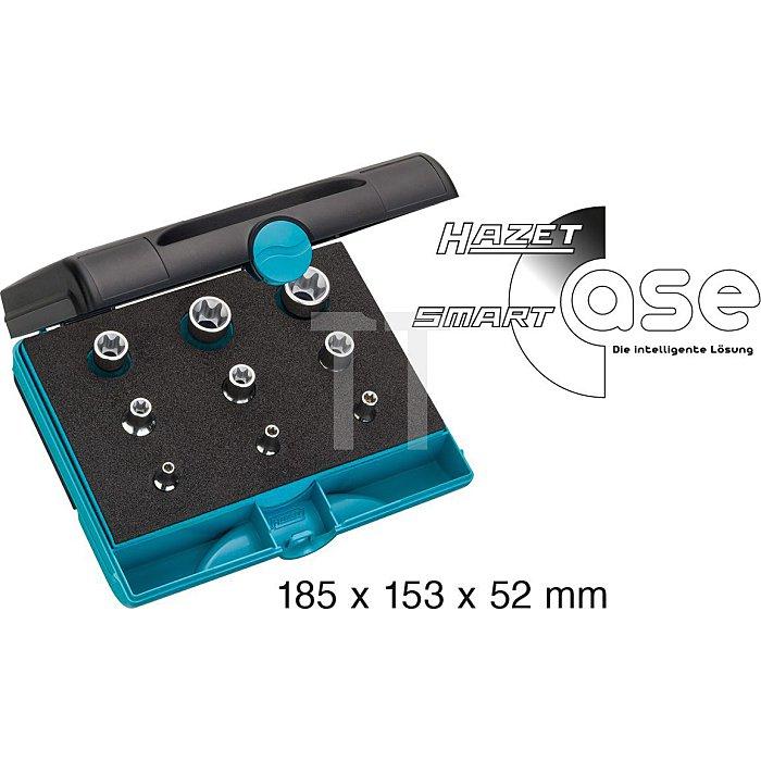 HAZET Werkzeug-Satz TORX® - Vierkant hohl 6,3 mm (1/4 Zoll), Vierkant hohl 10 mm (3/8 Zoll), Vierkant hohl 12,5 mm (1/2 Zoll) - Außen TORX® Profil - Anzahl Werkzeuge: 9