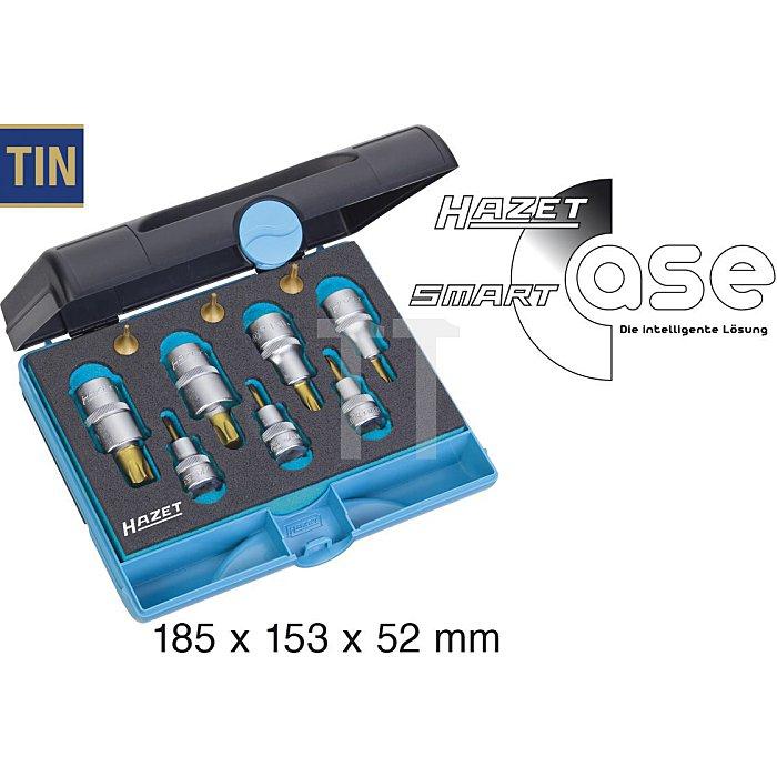 HAZET Werkzeug-Satz TORX® - Vierkant hohl 6,3 mm (1/4 Zoll), Vierkant hohl 10 mm (3/8 Zoll), Vierkant hohl 12,5 mm (1/2 Zoll) - Innen TORX® Profil - Anzahl Werkzeuge: 10
