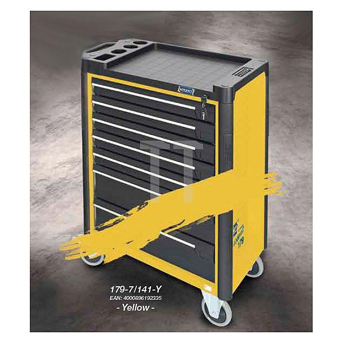 Hazet Werkzeugwagen Assistent 179-7 gelb inkl. 141 Profiwerkzeuge, Werkzeugkiste, Montagewagen HAZET