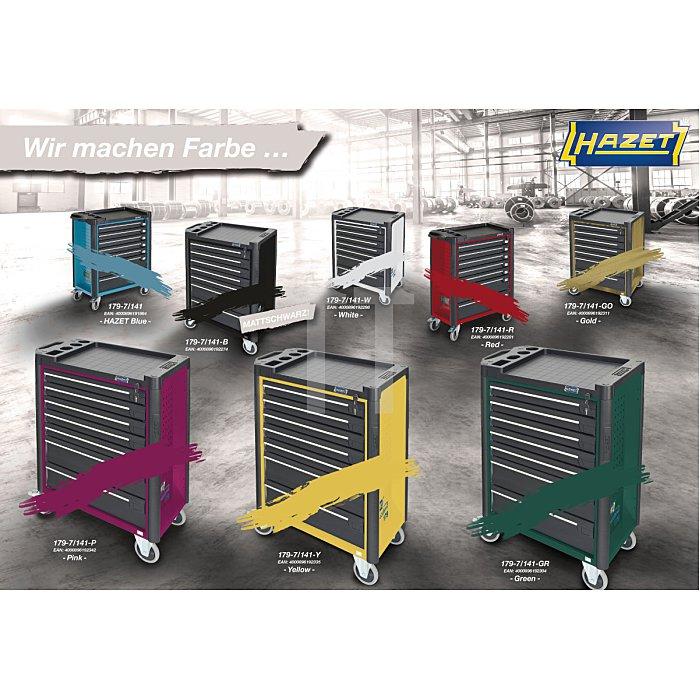 Hazet Werkzeugwagen Assistent 179-7 mattschwarz inkl. 141 Profiwerkzeuge, Werkzeugkiste, Montagewagen HAZET