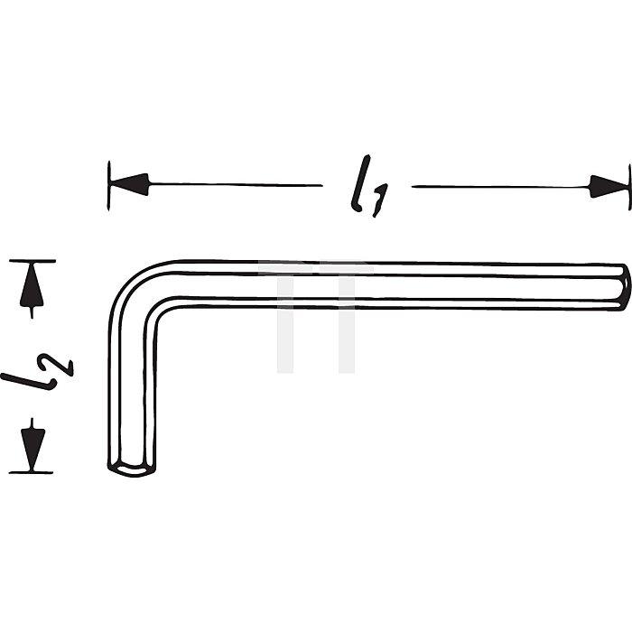 HAZET Winkelschraubendreher - Innen-Sechskant Profil - 5/8 mm