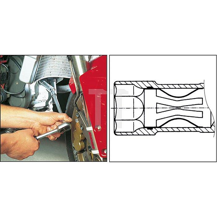 HAZET Zündkerzen-Schlüssel - Vierkant hohl 10 mm (3/8 Zoll) - Außen-Sechskant Profil - 16 5/8 mm