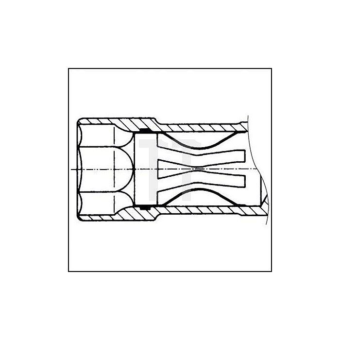 HAZET Zündkerzen-Schlüssel - Vierkant hohl 12,5 mm (1/2 Zoll) - Außen-Sechskant Profil - 16 5/8 mm