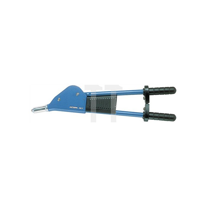 Hebelnietgerät HN 2 f.D.3-6,4mm m.5Mundstücken GESIPA