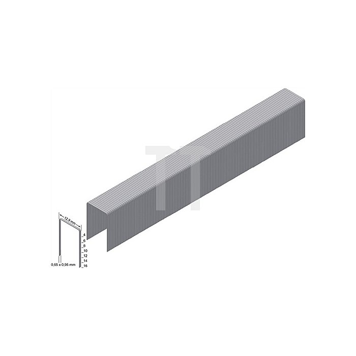 Heftklammern A14CNK 0,65x0,95mm/12,9x14mm verz.6000 Prebena