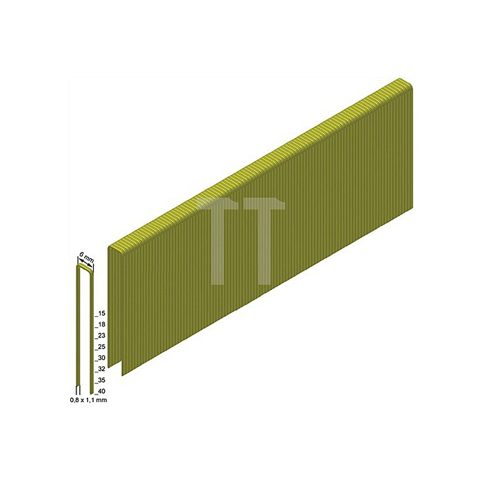 Heftklammern ES23CNKHA 0,8x1,1mm/6,0x23mm verzinkt/geharzt