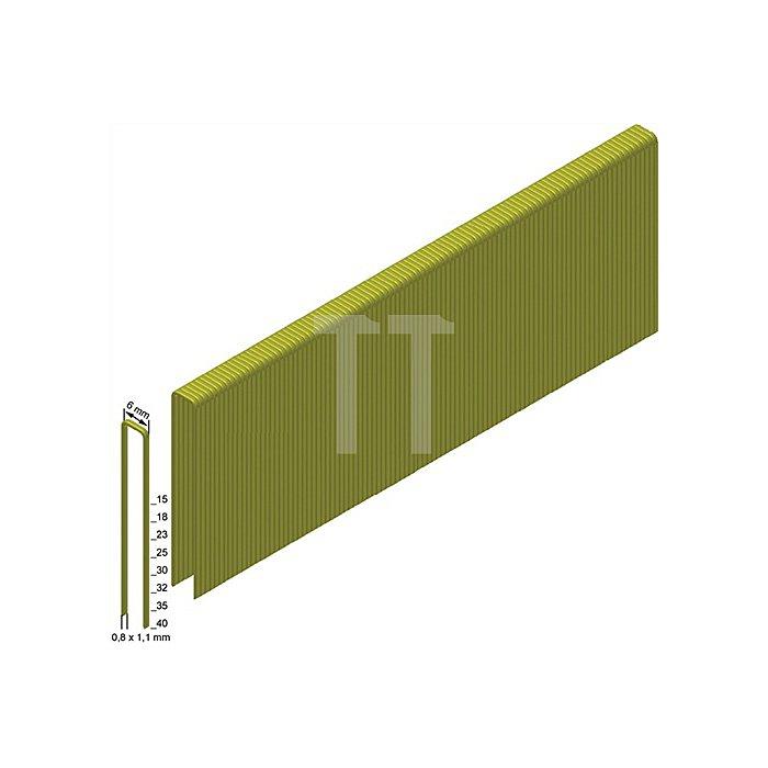Heftklammern ES40CNKHA 0,8x1,1mm/6,0x40mm verzinkt/geharzt