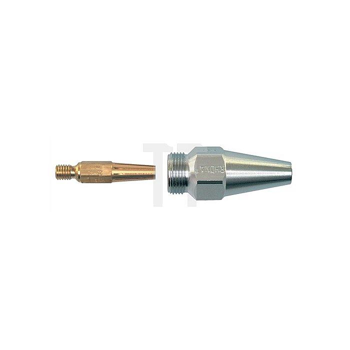 Heizdüse MPL Schneidbereich 100-300mm, Propan/Erdgas, verchromt