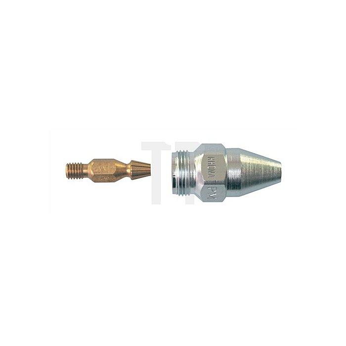 Heizdüse PUZ89 Schneidbereich 3-100mm, Propan/Erdgas, verchromt