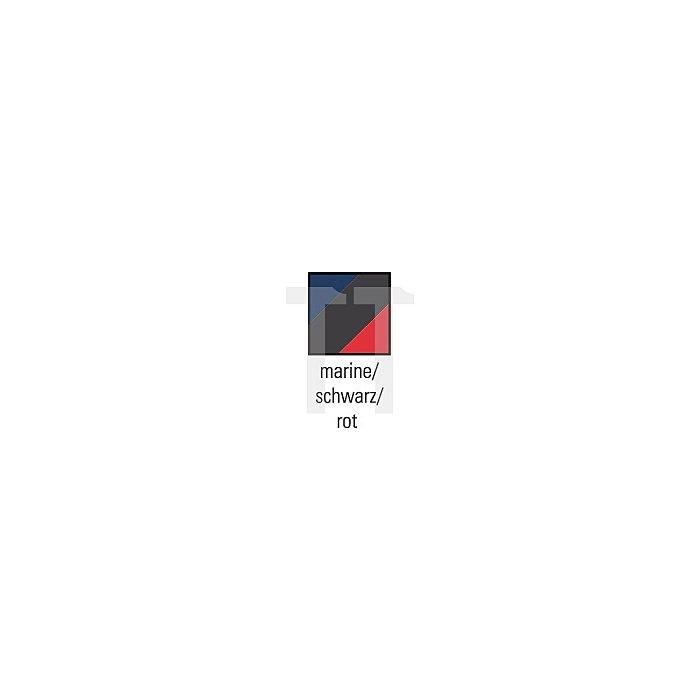 Herrenlatzhose Gr.60 marine/schwarz/rot 65%PES/35%CO Zollstocktasche