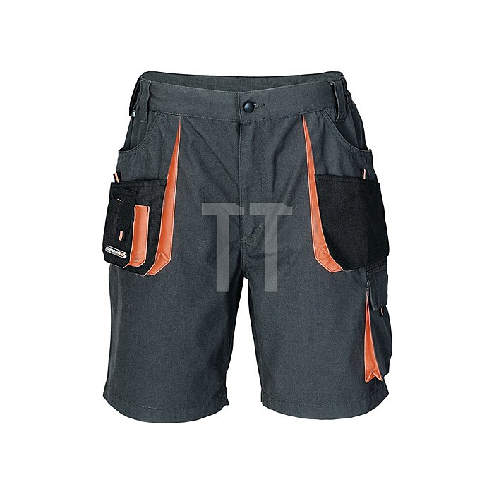 Herrenshorts Gr.60 dunkelgrau/schwarz/orange 65%PES/35%CO 270g/m2