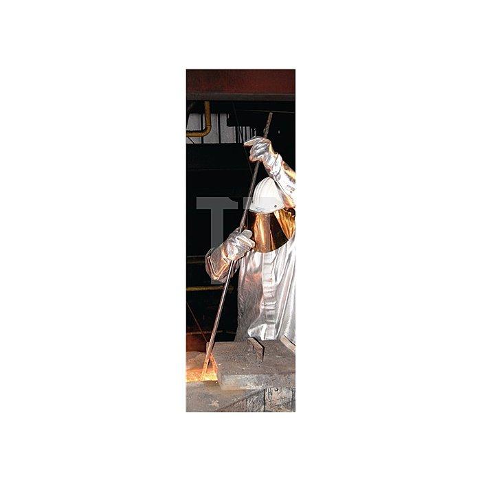Hitzehandschuhe L.38cm Aramid/Preox-Aramid-Alu 5Finger Kat.III max.1000 Grad C