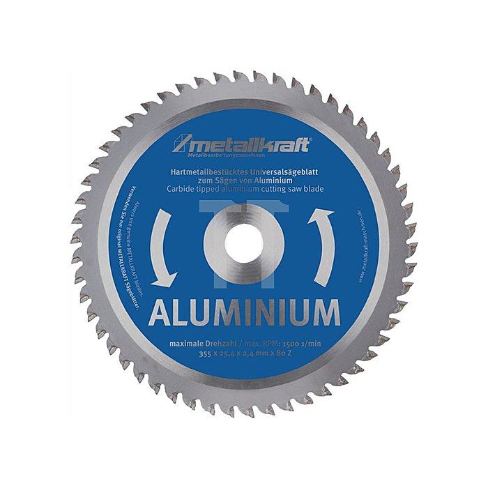 HM-Sägeblatt Aluminium 355x2,4x25,4mm Z80