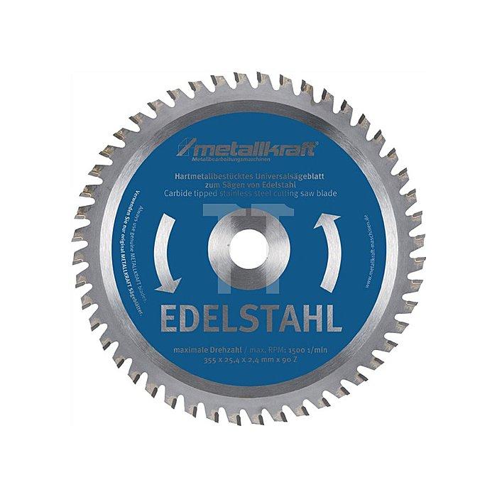 HM-Sägeblatt Edelstahl 355x2,4x25,4mm Z90
