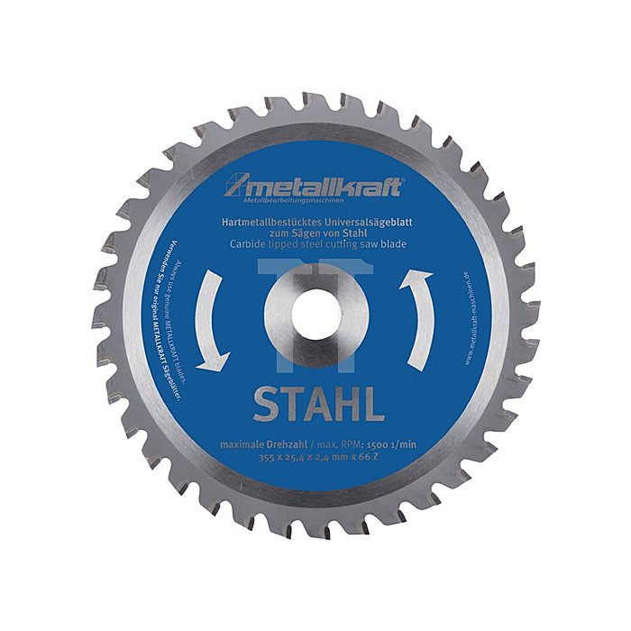 HM-Sägeblatt Stahl 355x2,4x25,4mm Z80