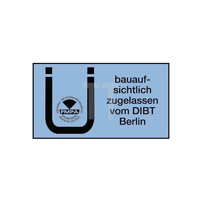 Hohlblockrahmendübel HBR 10-115 SSP m.Senkkopfschr. PZ galv. gelb vz. DIBt Zul.