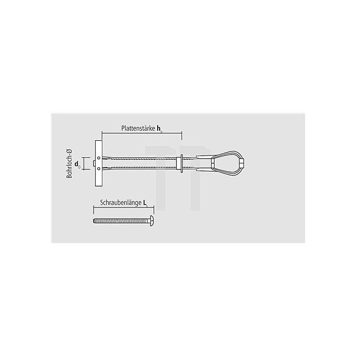 Hohraumdübel Universal BT M6 mit Schraube M6x62 apolo MEA