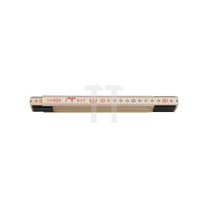 Holz-Meterstab L.2m natur H 2/10