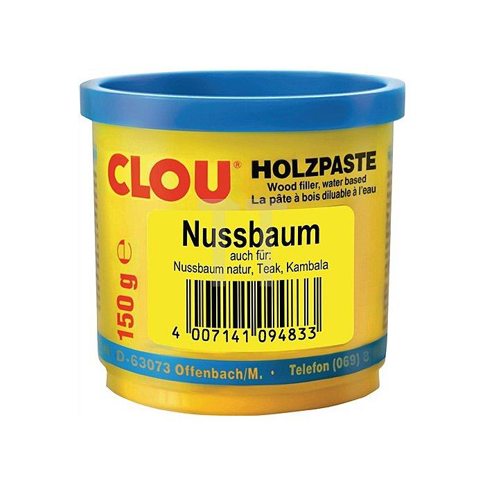 Holzpaste wasserverdünnbar 150g Nr. 10 nussbaum Clouth