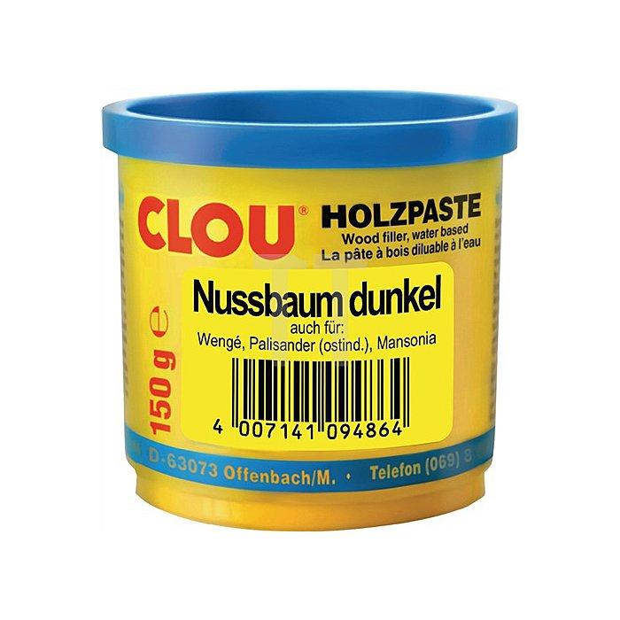 Holzpaste wasserverdünnbar 150g Nr. 13 nussbaum dunkel Clouth