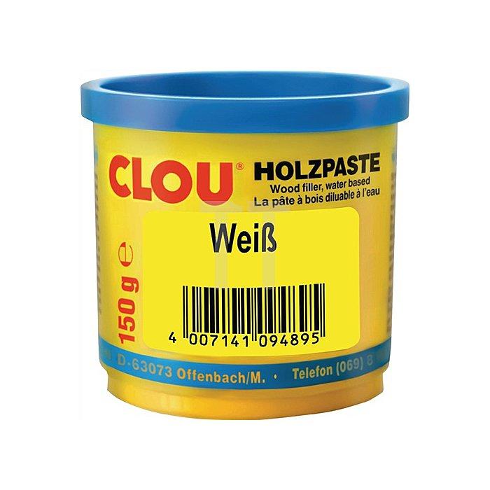 Holzpaste wasserverdünnbar 150g Nr. 16 weiss Clouth