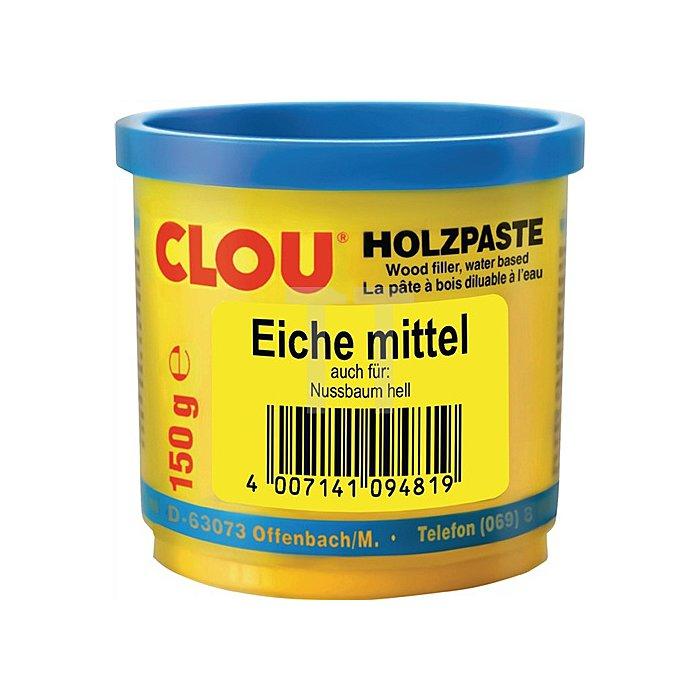 Holzpaste wasserverdünnbar 150g Nr. 8 eiche mittel Clouth