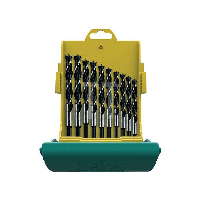 Holzspiralbohrersatz 10-teilig, 3,4,5,6,7,8,9,10,11,12mm