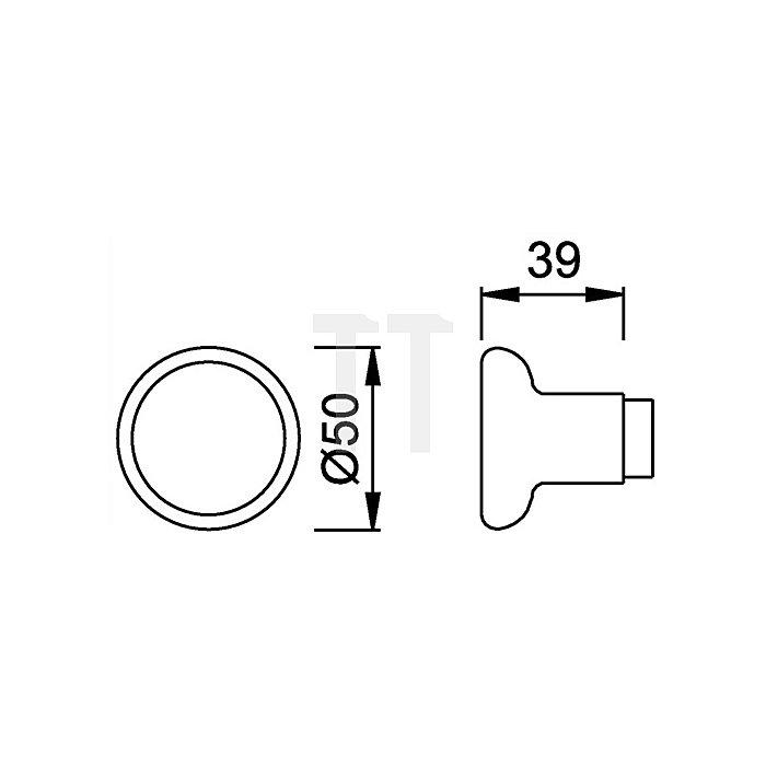 Hoppe Knopfdrücker 54/54 Durchmesser 51mm Alu F2 neusilber für Zimmertüren