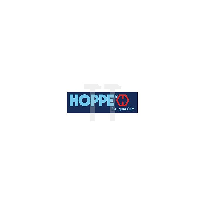 Hoppe Kurzschild-Drückergrt. Birmingham 1117/202KA Bad Entf. 78mm VK 8mm Alu F2
