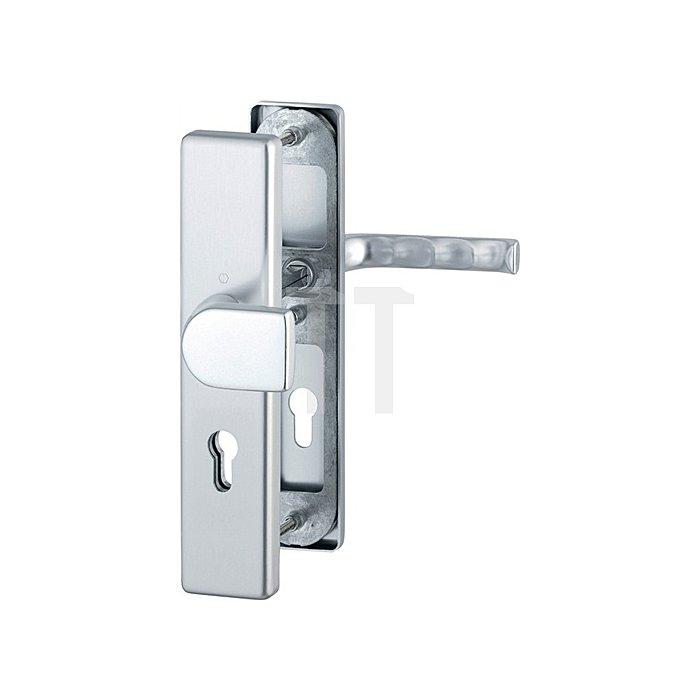 Hoppe Schutz-Drückergarnitur London 78G/2221/2440/113 ES1 PZ Entf. 92mm VK 10mm Alu F4
