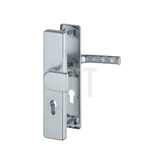 Hoppe Schutz-Wechselgrt. London 78G/2222A/2440/113 ES0 PZ Entf. 92mm VK 10mm Alu. F4